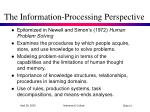 the information processing perspective