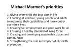 michael marmot s priorities