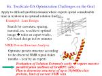 ex terascale ga optimization challenges on the grid