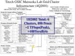 titech gsic matsuoka lab grid cluster infrastructure 4q2001