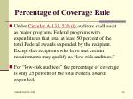 percentage of coverage rule