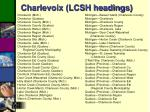 charlevoix lcsh headings