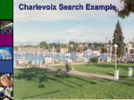 charlevoix search example