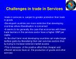 challenges in trade in services