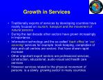 growth in services