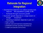 rationale for regional integration