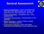 sectoral assessment