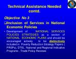 technical assistance needed contd1