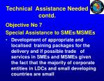 technical assistance needed contd5