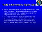 trade in services by region asia