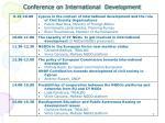 conference on international development