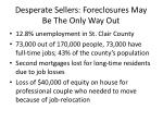 desperate sellers foreclosures may be the only way out