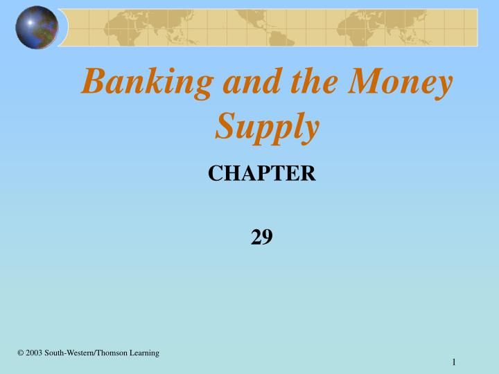 banking and the money supply n.