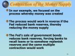 contraction of the money supply