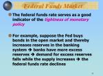 federal funds market1