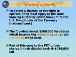 starting a bank