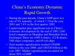 china s economy dynamic rapid growth