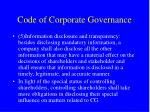 code of corporate governance2