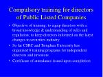 compulsory training for directors of public listed companies