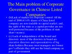 the main problem of corporate governance in chinese listed companies1