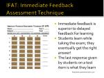ifat immediate feedback assessment technique