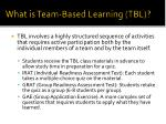 what is team based learning tbl