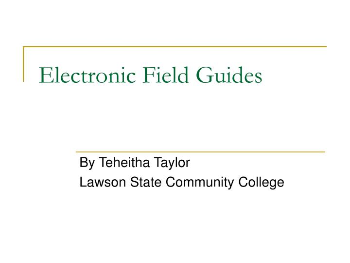 electronic field guides n.