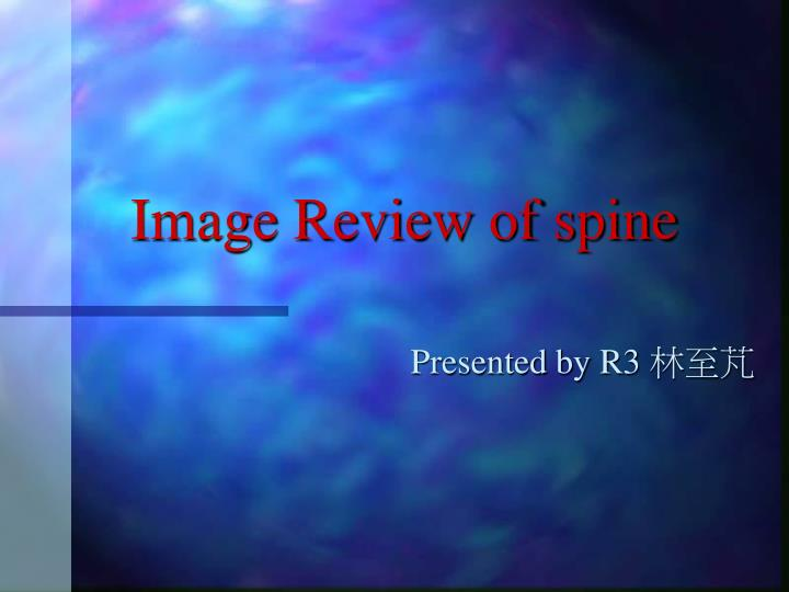 image review of spine n.