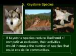 5 keystone species