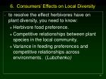 6 consumers effects on local diversity