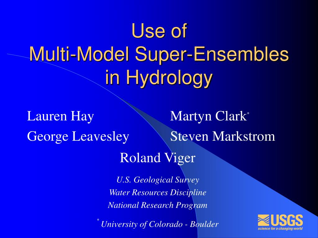use of multi model super ensembles in hydrology l.