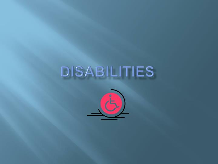 disabilities n.