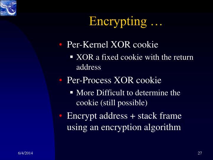 Encrypting …
