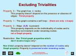 excluding trivialities