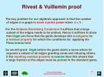 rivest vuillemin proof