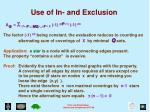 use of in and exclusion2