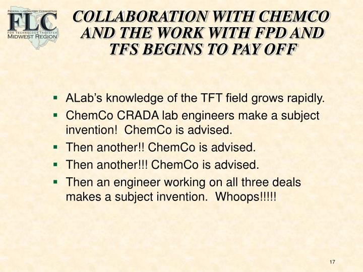 COLLABORATION WITH CHEMCO
