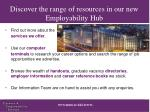 discover the range of resources in our new employability hub