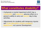 what constitutes disability