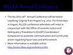 nllea annual conference