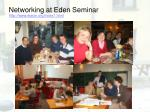 networking at eden seminar