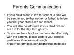 parents communication