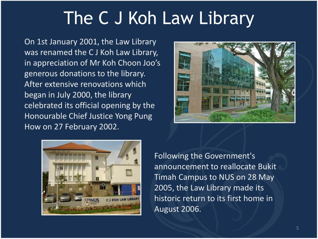 The C J Koh Law Library
