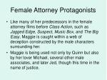 female attorney protagonists