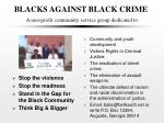 blacks against black crime a non profit community service group dedicated to