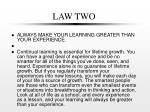 law two