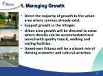1 managing growth