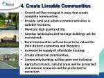 4 create liveable communities