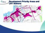 development priority areas and lrt stations