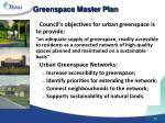 greenspace master plan